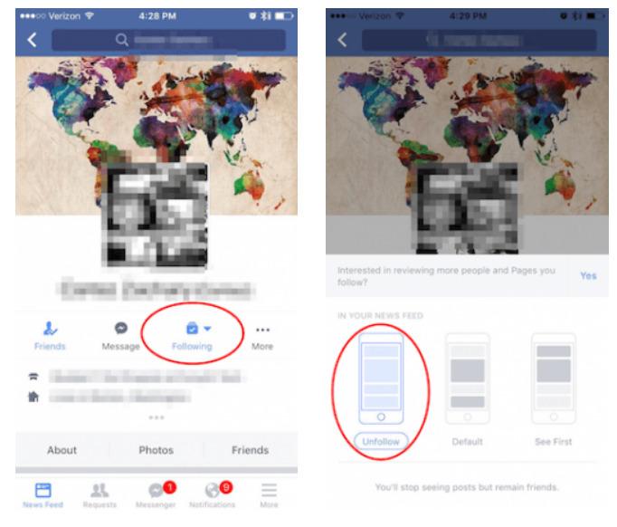 Hướng dẫn cách bỏ theo dõi trên Facebook bằng điện thoại 1