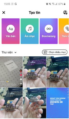 Hướng dẫn cách chèn nhiều ảnh vào một Story Facebook 4