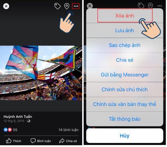 Hướng dẫn xóa ảnh bìa Facebook trên điện thoại cực đơn giản