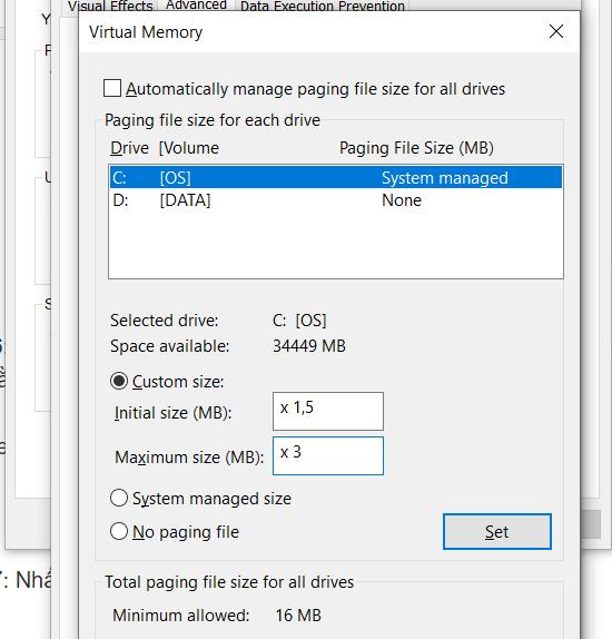 Hướng dẫn set RAM ảo cho máy tính Windows cực đơn giản 17