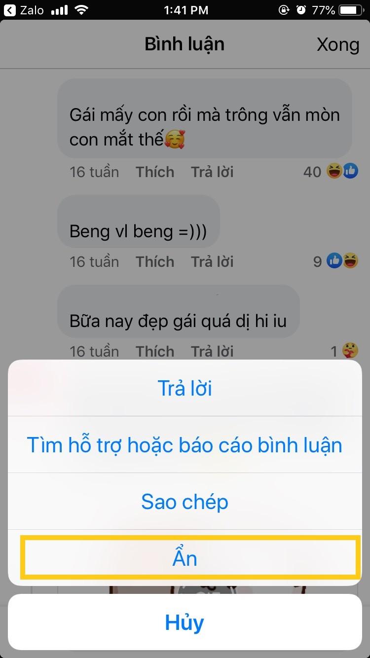 Cách ẩn bình luận trên Facebook trên điện thoại và máy tính 2021