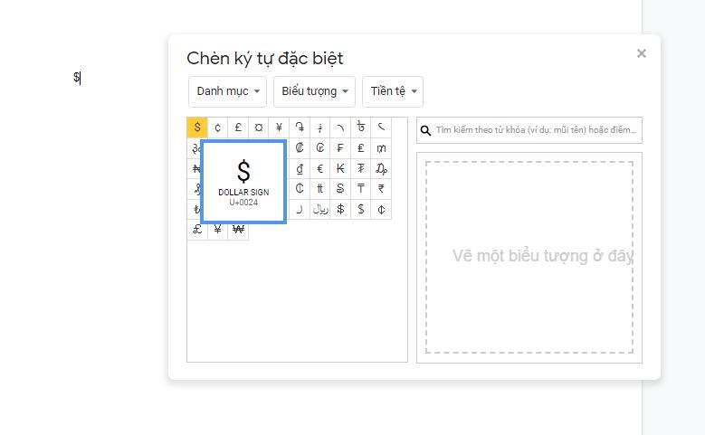cách chèn ký tự đặc biệt trong Google Sheet 5