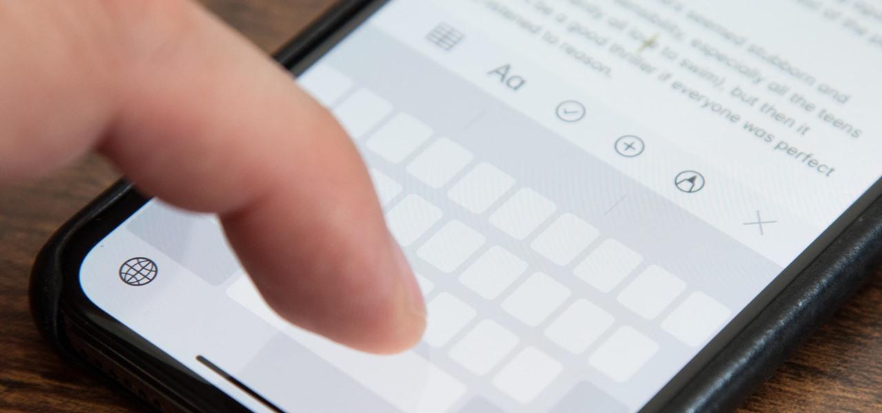 cách gõ bàn phím iPhone nhanh 6