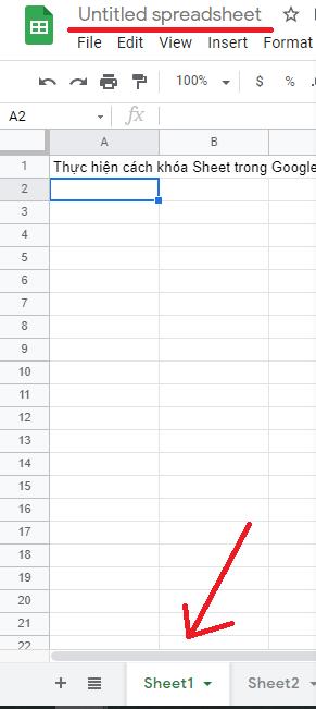 cach khoa sheet trong google sheet