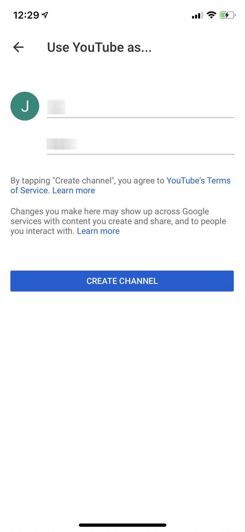 Hướng dẫn từng bước cách tạo kênh YouTube trên điện thoại