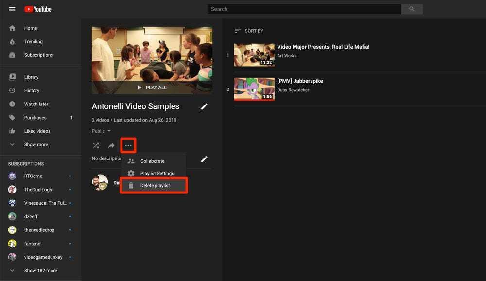 Cách xóa danh sách phát trên YouTube bằng máy tính và điện thoại