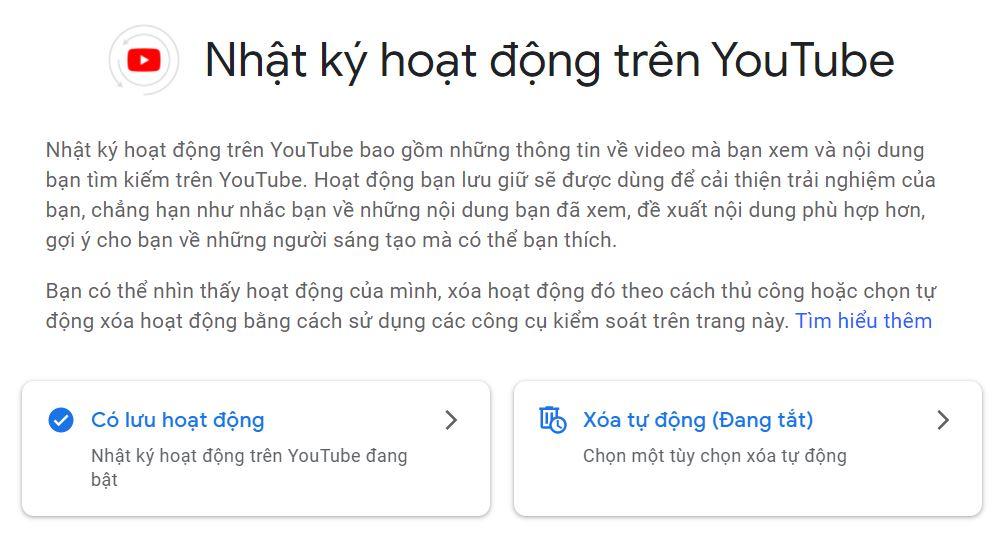 Hướng dẫn xóa lịch sử tìm kiếm trên YouTube triệt để