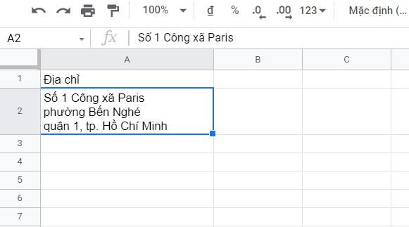 cach xuong dong trong google sheet 03