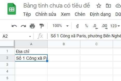 cach xuong dong trong google sheet