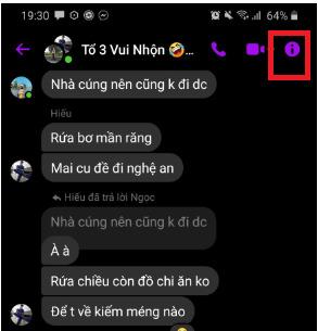 Hướng dẫn cách rời khỏi nhóm trên Messenger