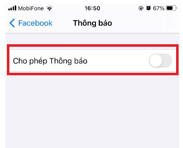 Hướng dẫn cách tắt thông báo Facebook trên điện thoại