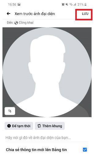 Hướng dẫn cách để ảnh đại diện trống trên Facebook