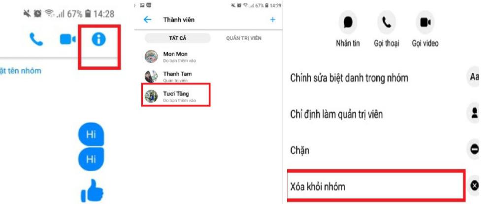 Hướng dẫn cách xóa thành viên trong nhóm Messenger bằng điện thoại