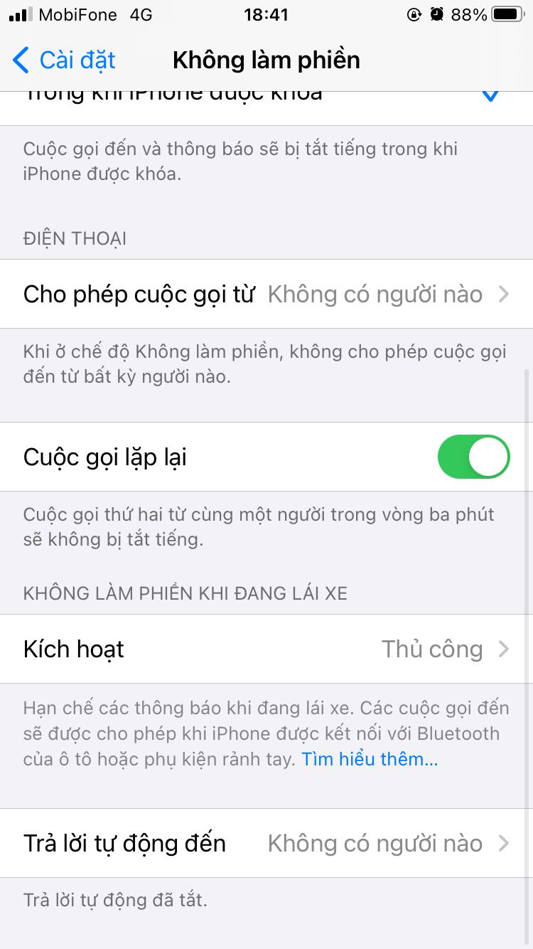 chặn cuộc gọi ngoài danh bạ trên iPhone (3)