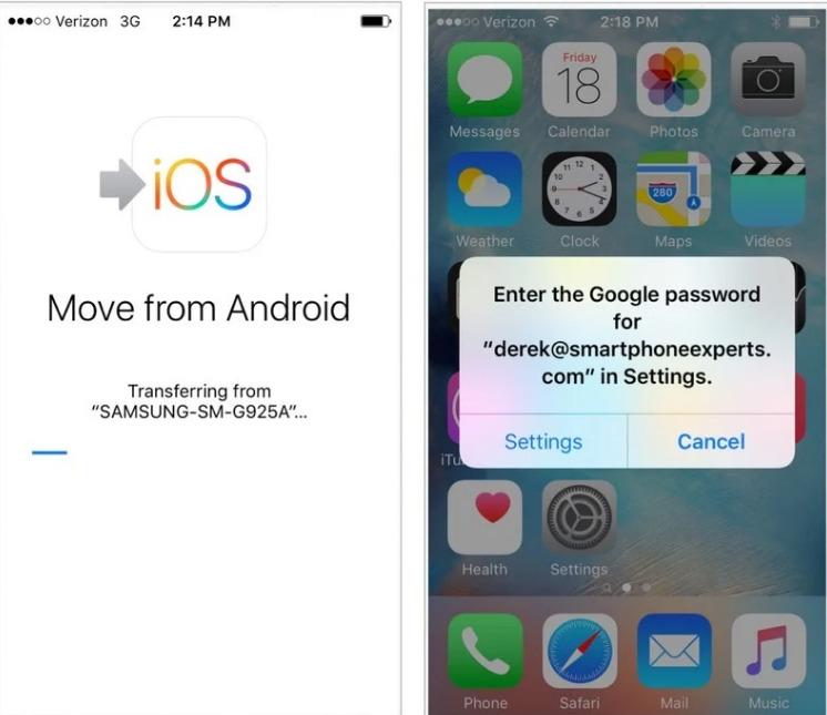 chuyen du lieu tu android sang iphone 6