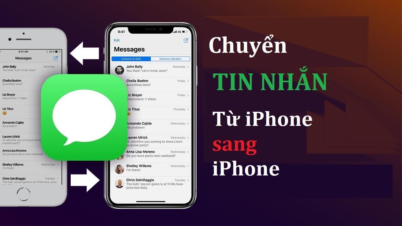 chuyen tin nhan tu iphone sang iphone