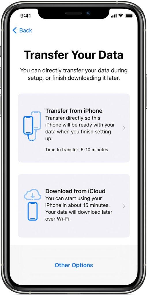 chuyển ứng dụng từ iphone sang iphone 3