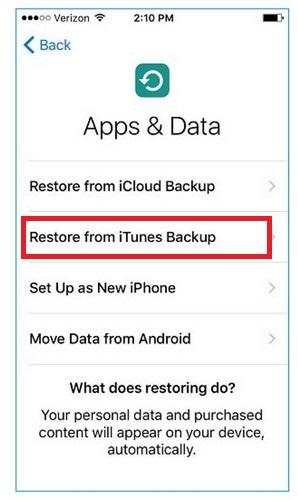 chuyển ứng dụng từ iphone sang iphone 7