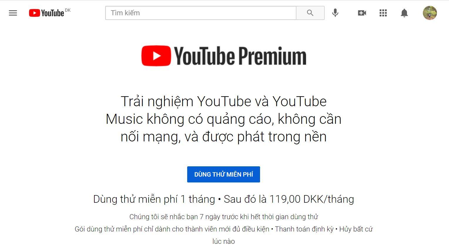 Hướng dẫn cách đăng ký YouTube Premium tại Việt Nam