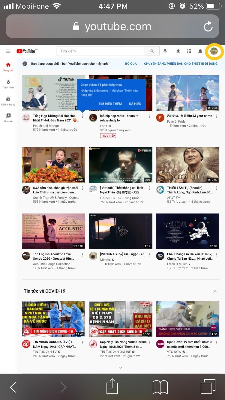 Hướng dẫn từng bước cách đổi ảnh bìa YouTube trên điện thoại