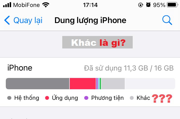 Bộ nhớ Khác trên iPhone là gì?