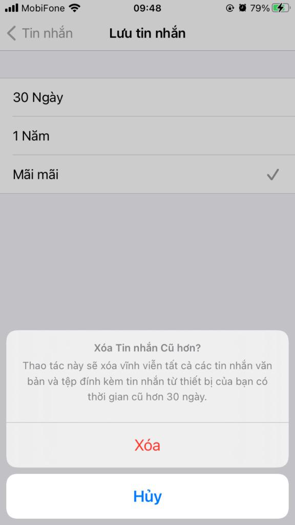 Cách xóa dung lượng Khác trên iPhone hoặc iPad