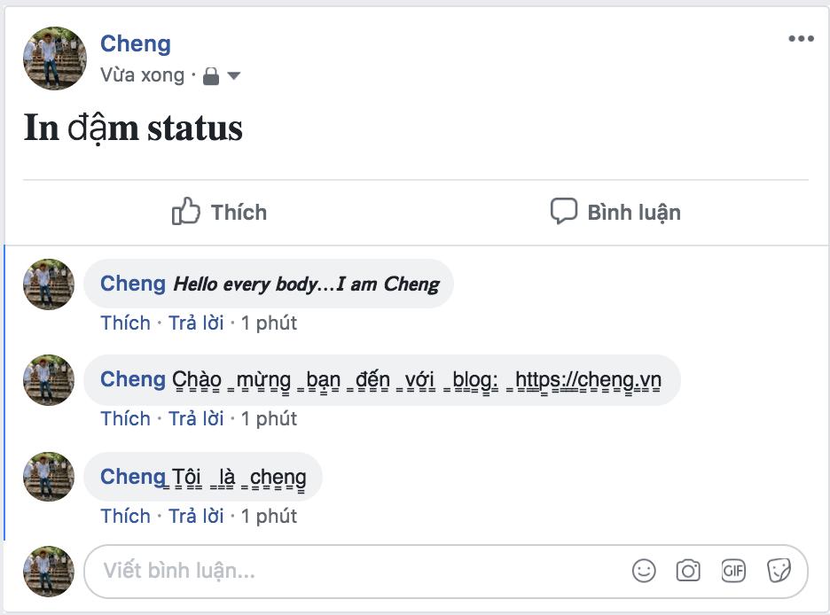 Hướng dẫn cách viết chữ in đậm trên Facebook mà không phải ai cũng biết 8