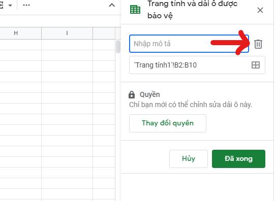 khoa o trong google sheet 03