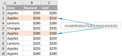 sumproduct là hàm gì 07
