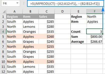 sumproduct là hàm gì 09