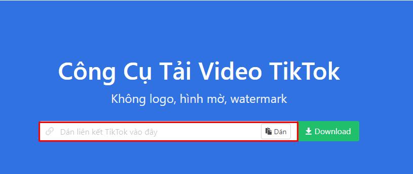 cách tải video TikTok không logo