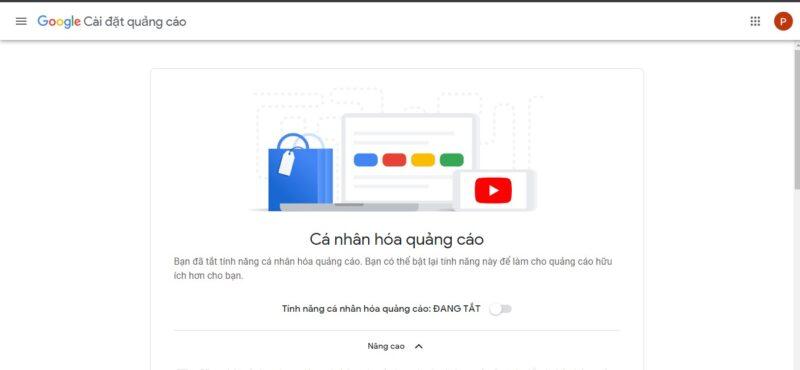 Tắt quảng cáo YouTube được cá nhân hóa riêng cho bạn