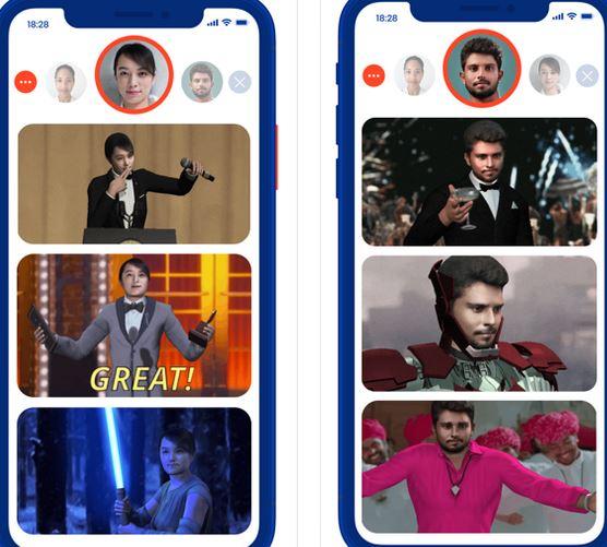 Biến hình với 5 ứng dụng thay đổi khuôn mặt trong video