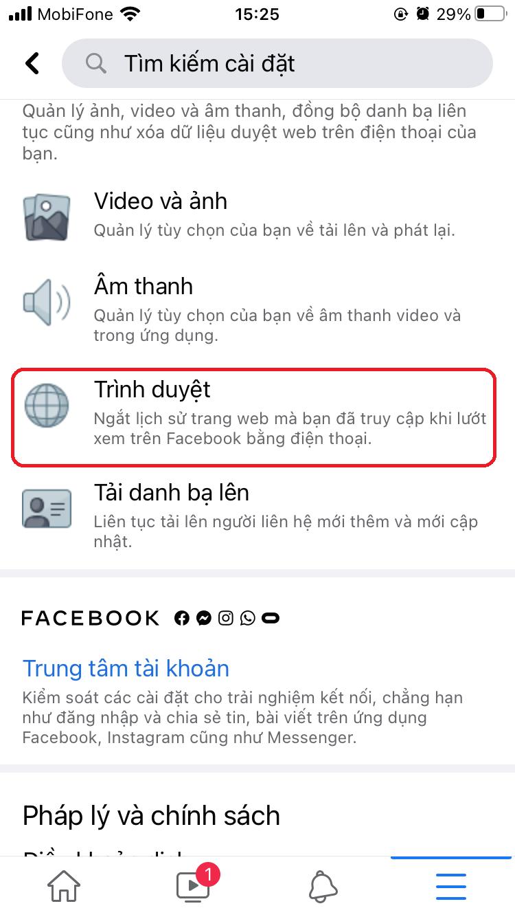 xoa bo nho dem facebook tren iphone 3