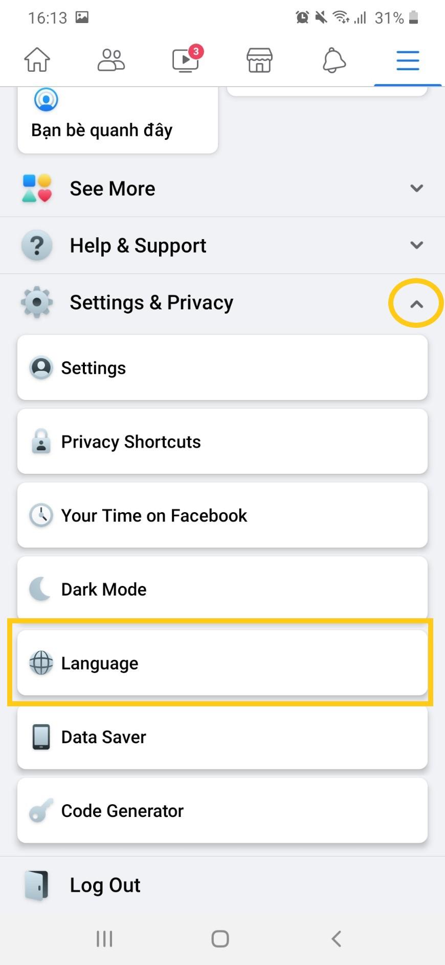 Hướng dẫn từng bước chuyển Facebook sang Tiếng Việt, ai cũng sẽ làm được 3