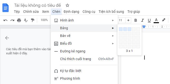 Cach tao bang trong google docs 001