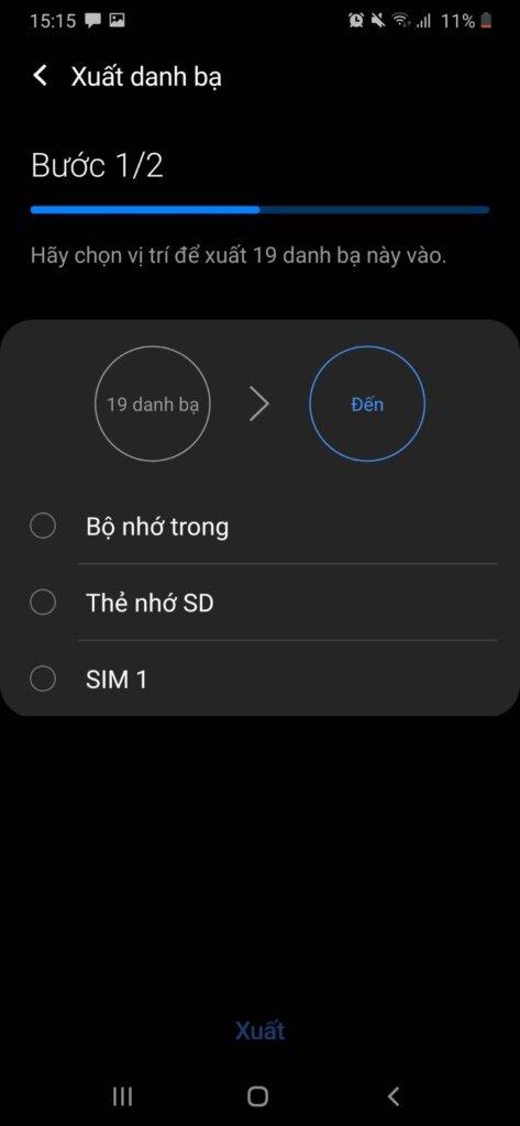 cach chuyen danh ba tu iphone sang SIM