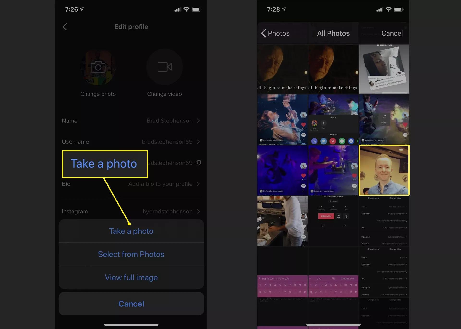 Cách thay đổi ảnh đại diện trên TikTok