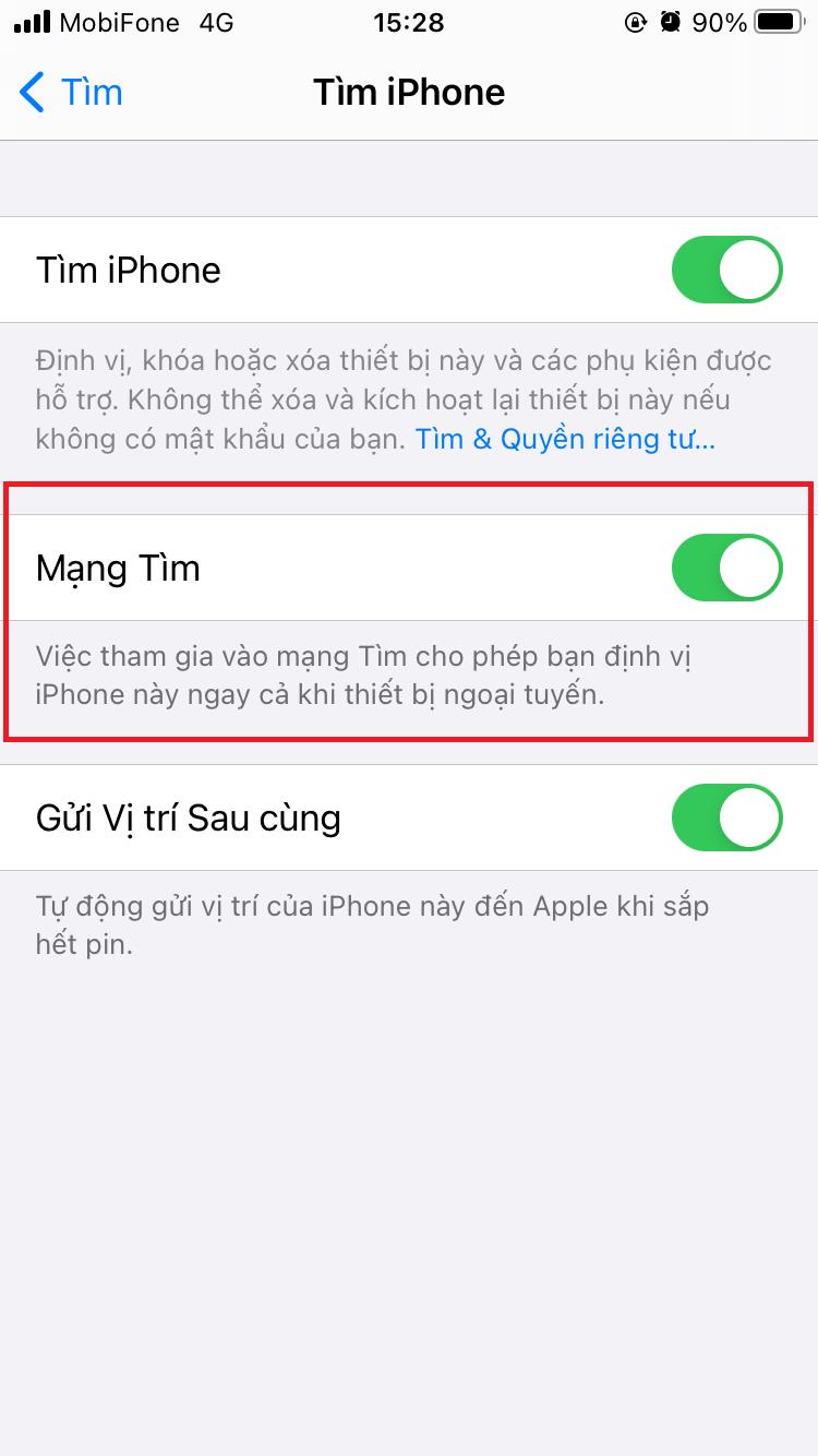 cach tim iphone bi mat bang icloud 10