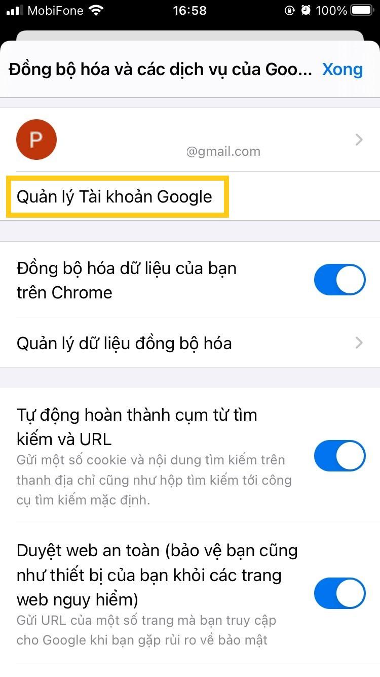 Hướng dẫn từng bước cách gỡ và xóa tài khoản Google trên iPhone 4