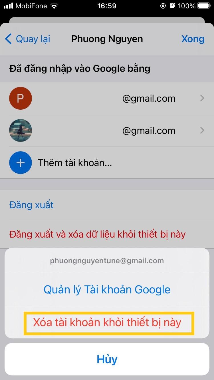 Hướng dẫn từng bước cách gỡ và xóa tài khoản Google trên iPhone 3