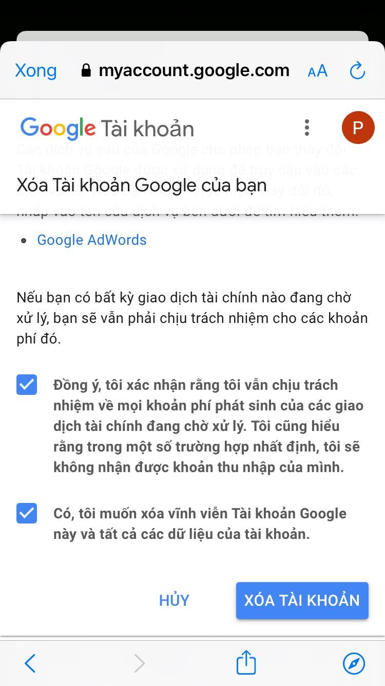 Cách xóa tài khoản Google trên iPhone mới nhất 2021