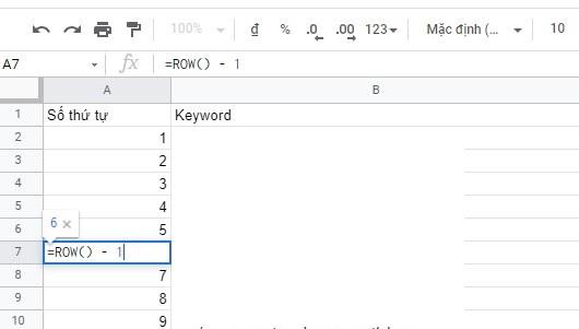 danh so thu tu trong Google Sheet 06