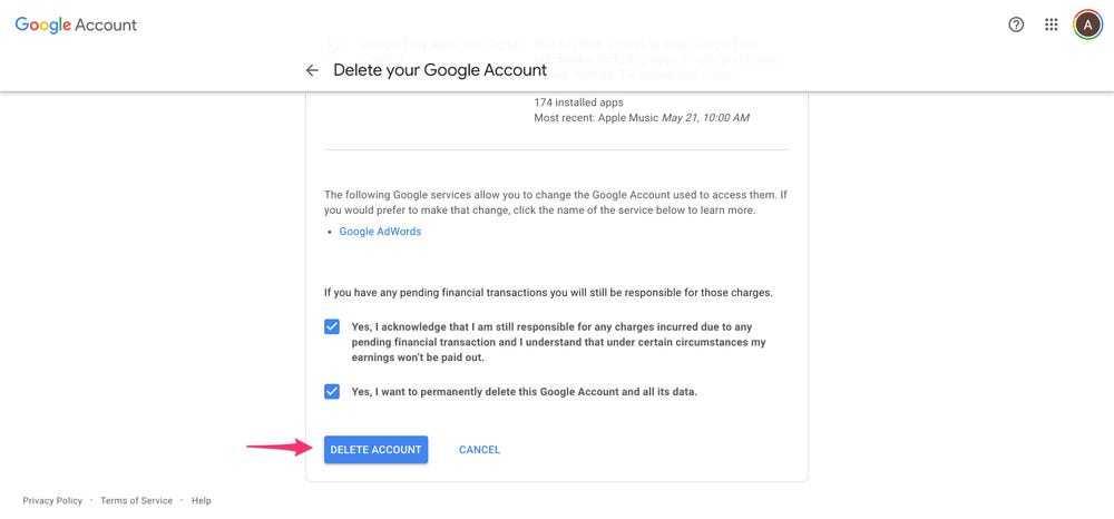 Hướng dẫn xóa tài khoản Google không bị mất dữ liệu 2021