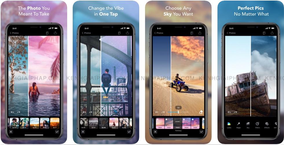 App chỉnh mây - Enlight Quickshot