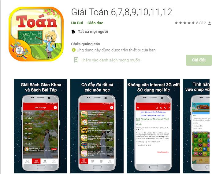 app giai toan 13