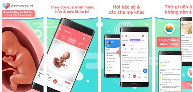 App theo dõi bé - theAsianparent