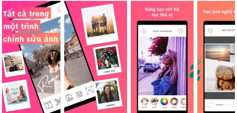 App viết chữ lên ảnh-Piclab