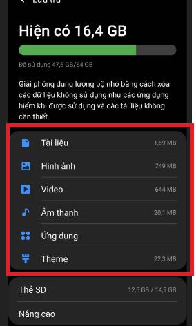 Cách xóa bộ nhớ trong điện thoại SamsungbằngDevice Care
