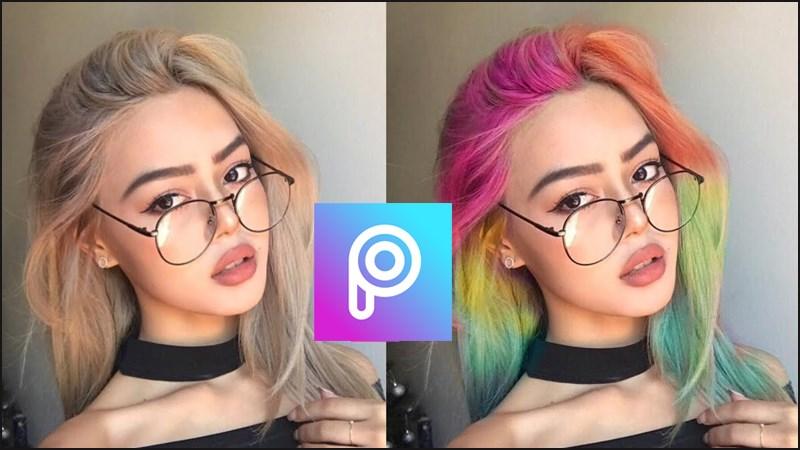 App chỉnh màu tóc-PicsArt